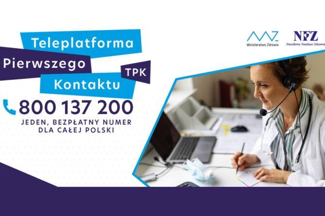 Narodowy Fundusz Zdrowia uruchomił Teleplatformę Pierwszego Kontaktu – TPK